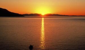 tramonto su corsica el
