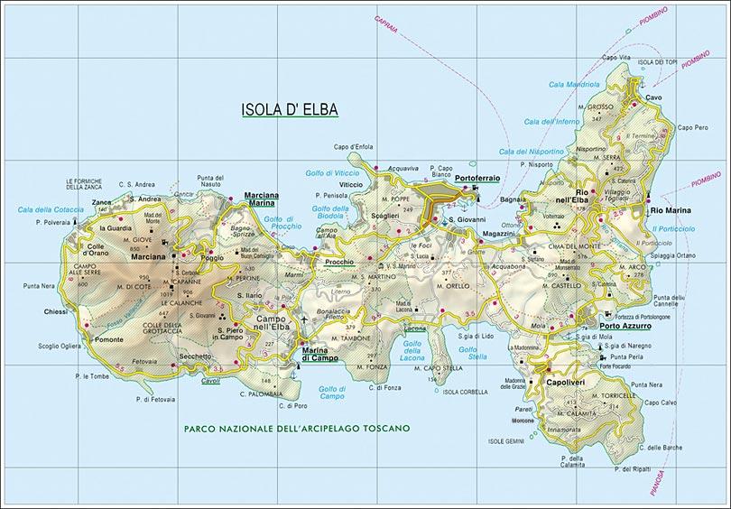 Cartina Elba Isola.La Cartina Dell Isola D Elba Mappa Dettagliata Per Spostamenti Sicuri